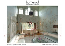 Fromental - EC001F Embroidered Nonsuch - custom col 'the aviary' Стильные обои в интерьере