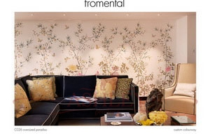 C026 oversized paradiso custom colourway Fromental Fromental Текстильные обои Англия