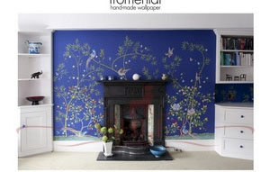C026 paradiso col ultramarine_2 Fromental Fromental Текстильные обои Англия