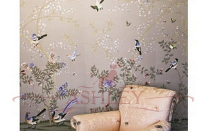 EC026P Paradiso col pewter Fromental Fromental Текстильные обои Англия