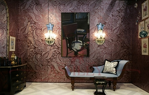 Flowering_Damask_3296 De Gournay Custom projects Бумажные обои Англия
