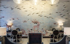 Underwater_scenes_3130 De Gournay Custom projects Бумажные обои Англия