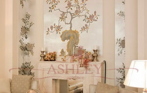 Summer_night_blossom_2109 De Gournay Japanese & Korean Бумажные обои Англия