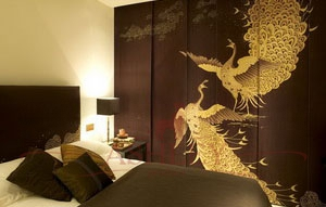 Whistler_peacocks_2143 De Gournay Japanese & Korean Бумажные обои Англия