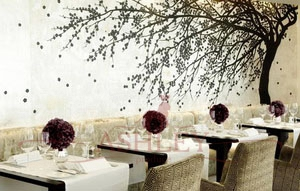 Windswept_blossom_2073 De Gournay Japanese & Korean Бумажные обои Англия