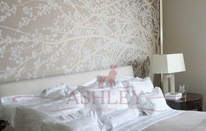Windswept_blossom_2081 De Gournay Japanese & Korean Бумажные обои Англия