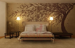 Windswept_blossom_2141 De Gournay Japanese & Korean Бумажные обои Англия