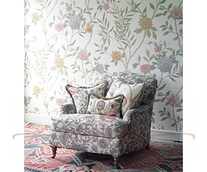China-rose-and-Bolton-scroll-fabric2-low-res Lewis & Wood Wallpapers Бумажные обои Англия