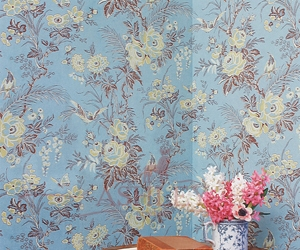 Muscat-Summer-Blue-300-dpii-10x14 Lewis & Wood Wallpapers Бумажные обои Англия